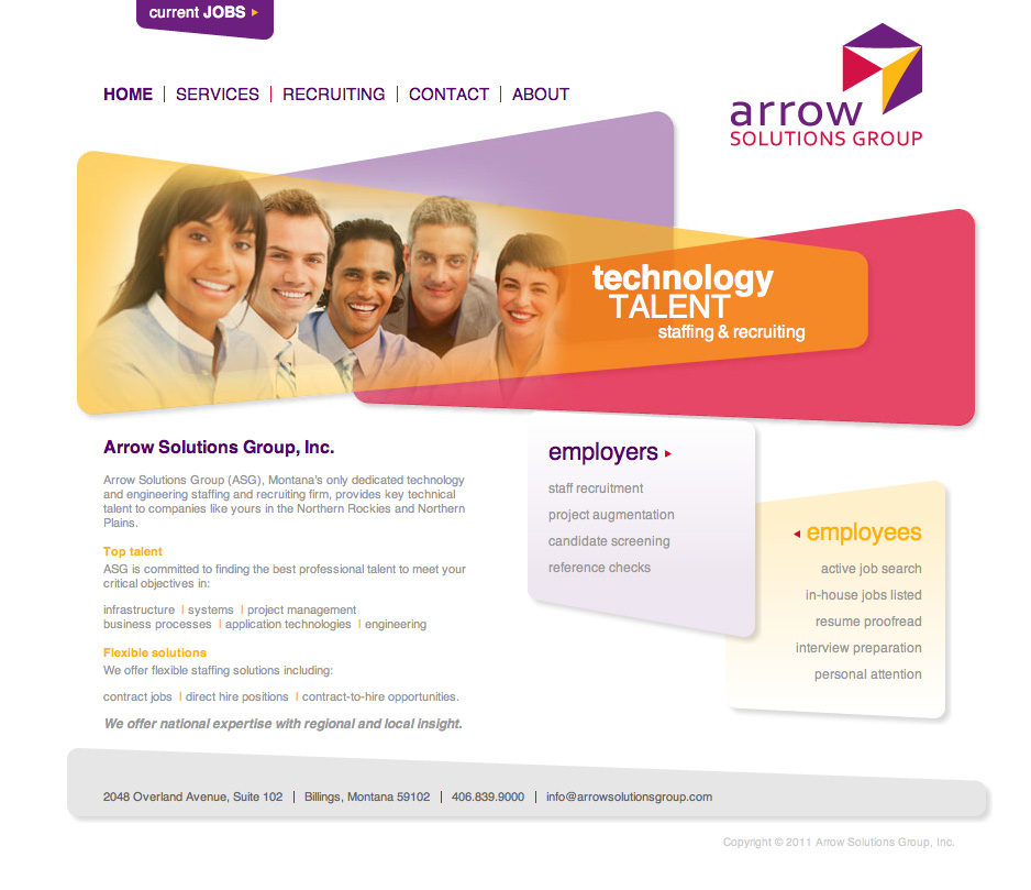 Portfolio - Arrow Solutions - Web Development