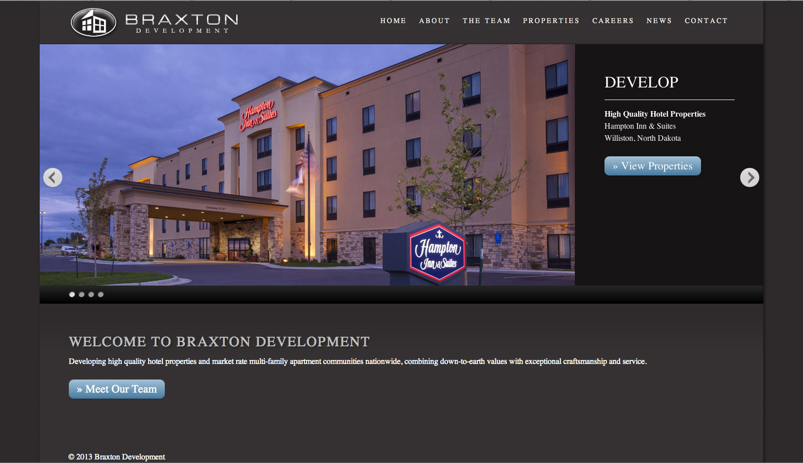 hotel development website design
