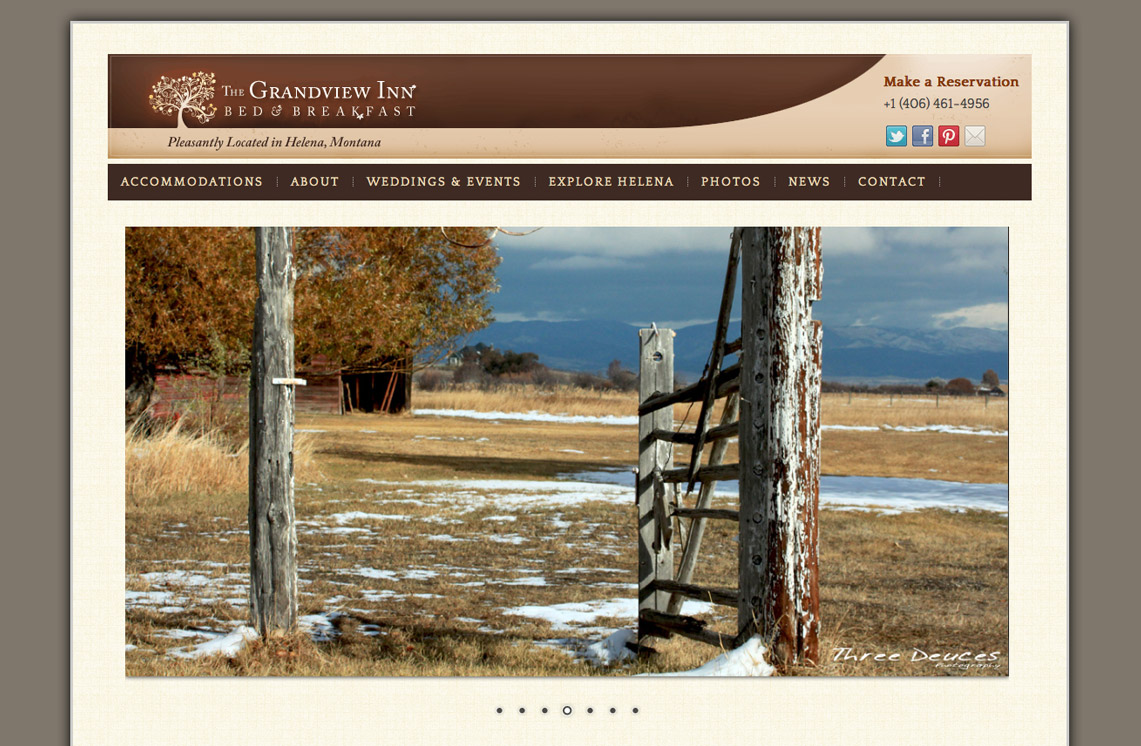 Grandview Inn Helena Website Design